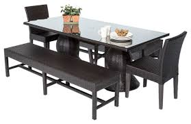 Patio Dining Table Set Outdoor Dining Set With Bench Outdoorlivingdecor