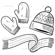 4 images winter clothes coloring pages printable winter