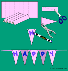 how to make an easter pennant banner easter and crafts
