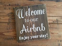 airbnb sign welcome sign vacation home signs home signs