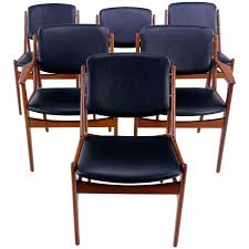set of six danish modern