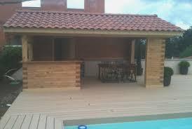 faire une cuisine d été awesome cuisine d été en bois beautiful hostelo