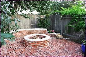 Firepit Brick Brick Patio With Pit Pit Design Ideas