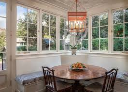 Window Seat In Dining Room - traditional dining room with window seat u0026 chandelier in santa