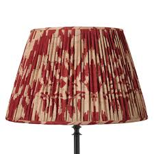 Red Color Combination Astonishing Pleated Lamp Shades Unique Motif Red Color Combination