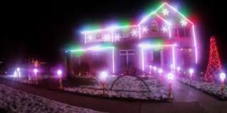 this christmas house light show is next level video huffpost