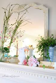 Easter Fireplace Mantel Decorations by 60 Best Mantle Spring Summer Images On Pinterest Summer Mantel