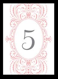 5 best images of table numbers printable cards designs diy table