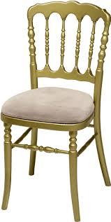 chaise dorée chaise napoléon iii dorée assise taupe duquesne