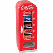 coca cola 10 can retro vending fridge for home office car or