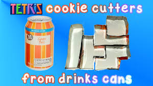 how to turn drinks cans into tetris cookie cutters youtube