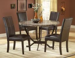 leather dining room sets furniture round black glass dining table and black wooden dining