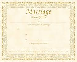 7 marriage certificate templates certificate templates