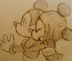 mickey u0026 minnie mouse draw couple based favim