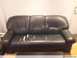 revetement canapé canapé fauteuil 3 places revêtement abîmé a vendre 2ememain be