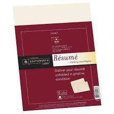 Resume Paper Weight Southworth Resume Envelopes Ivory Target