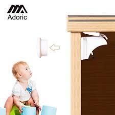 adhesive baby cabinet locks amazon com adoric magnetic child safety cabinet locks 6 locks 2