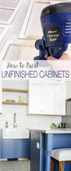 how to paint unfinished cabinets learn how to paint unfinished cabinets to get the kitchen of