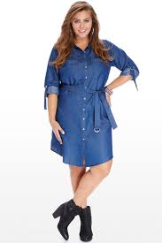 2016 autumn denim dress jeans blue women plus size casual long