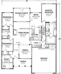one story floor plan one story split bedroom house plan 40177wm architectural