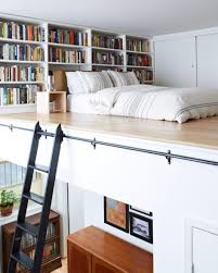 Rolling Bookcase Ladder by Interiors Best Reading Nook Features Mini Mezzanine Loft Bed