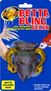 Dolphin Vase Betta Bling Decor U2013 Dolphin Vase Zoo Med Laboratories Inc