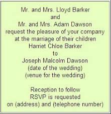 formal invitation wording formal wedding invitation wording etiquette parte two