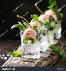 cuisine de a à z verrines verrines appetizer salmon pate caviar stock photo 650065393
