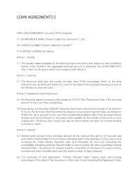 loan agreement word template ms word loan agreement template word
