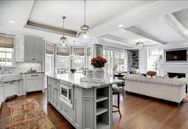 Kitchen Family Room Design Photo On Simple Home Designing - Kitchen family room layout ideas