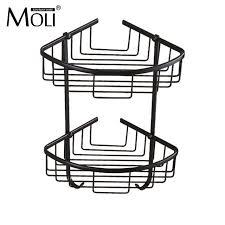 White Bathroom Shelf With Hooks by Aliexpress Com Buy Bathroom Corner Basket Oil Rubbed Bronze Bath
