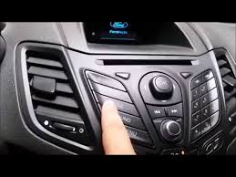 how to enter ford fiesta radio code youtube