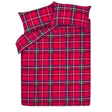 brushed cotton tartan bedding range red duvet covers george