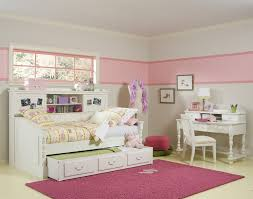 Antique White Youth Bedroom Furniture Antique White Desk For Teenager Combined Cool Bunk Beds And Pink