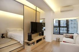 Bedroom With Living Room Design Inside The Shape Shifting 452 Square Foot Hong Kong Flat Dubbed
