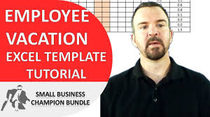 Pto Spreadsheet Template Vacation Planner Excel Template Employee Vacations Youtube