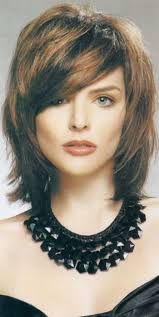 hairstyles for medium length fine hair with bangs shoulder length shag haircuts hairstyle picture magz