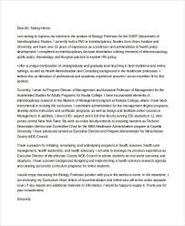 6 biology cover letters free samples examples format download