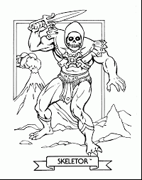fabulous he man skeletor coloring pages with rugrats coloring