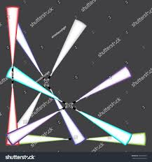 Futuristic Clock by Light Blade Energy Sword Futuristic Science Stock Vector 365205959