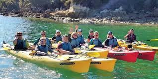 wilsons abel tasman national park guided sea kayak walk