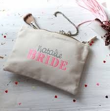 bridal makeup bag personalised wedding make up bag lammie