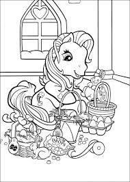 pony easter coloring