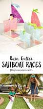 summer camp rain gutter sailboat races stem activity continue