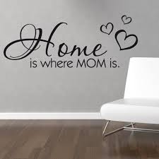 home where mom wall sticker quote chimp home where mom wall sticker quote