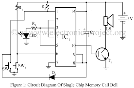 circuit diagram of single chip memory call bell u2013 electronics