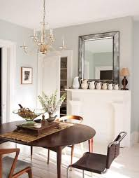 antiqued beveled mirror eclectic dining room sherwin