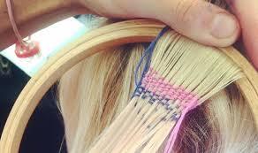 hair wraps woven hair trend replaces 90 s rainbow hair wraps takes instagram