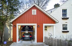 house red roofing designs imanada hydraulic roof opens and closes everyday solutions garage built instead out the city lot wasnt large enough for