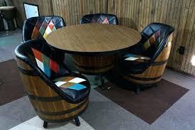 whiskey barrel bar table whiskey barrel table and chairs full size of barrel chair whiskey